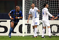 Fotball<br /> Frankrike<br /> Foto: DPPI/Digitalsport<br /> NORWAY ONLY<br /> <br /> FOOTBALL - CHAMPIONS LEAGUE 2008/2009 - GROUP STAGE - GROUP B - 081022 - INTER MILAN v ANORTHOSSIS FAMAGUSTA FC - JOY ADRIANO (INT) AFTER HIS GOAL