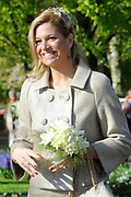 State visit of the Swedish king Carl XVI Gustaf and queen Silvia van Zweden to the Netherlands.<br /> <br /> On the Photo Queen Silvia of Sweden of the dutch princess Maxima visit the Keukenhof