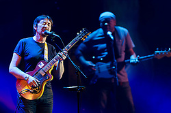 © Licensed to London News Pictures. 05/04/2012. London, UK. Chris Rea performs live at Hammersmith Apollo as part of his Santo Spirito tour, promoting his latest studio album Santo Spirito Blues. Photo credit : Richard Isaac/LNP