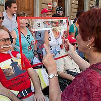 Protesta del malati di Sla