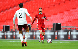 Andrew Robertson of Liverpool tries to get past Hector Bellerin of Arsenal - Mandatory by-line: Nizaam Jones/JMP - 29/08/2020 - FOOTBALL - Wembley Stadium - London, England - Arsenal v Liverpool - FA Community Shield