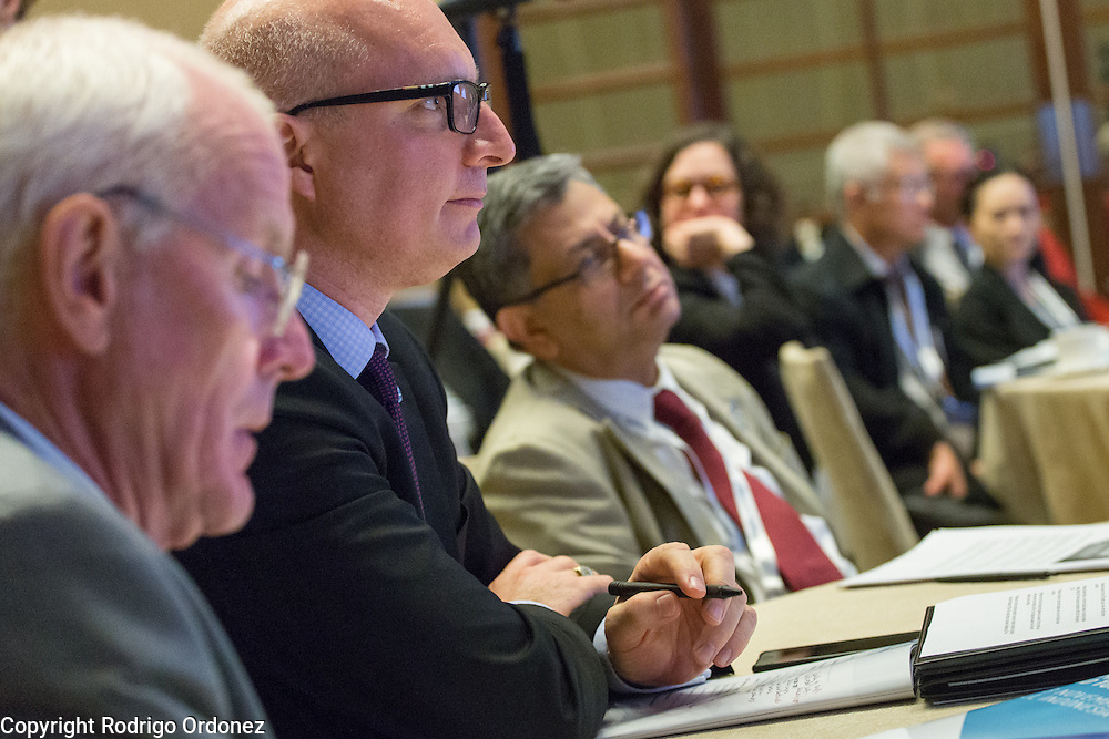 Executives of The Union and the World Diabetes Foundation listen to panelists at the global summit on diabetes and tuberculosis in Bali, Indonesia, on November 2, 2015.<br /> The increasing interaction of TB and diabetes is projected to become a major public health issue.The summit gathered a hundred public health officials, leading researchers, civil society representatives and business and technology leaders, who committed to take action to stop this double threat. (Photo: Rodrigo Ordonez for The Union)
