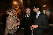 Gaia Servado, Raine Countess Spencer and Amin Jaffer, Raine Countess Spencer, private view of The Alberto Bruni Tedeschi Collection -  Sotheby's,19 March 2007.  -DO NOT ARCHIVE-© Copyright Photograph by Dafydd Jones. 248 Clapham Rd. London SW9 0PZ. Tel 0207 820 0771. www.dafjones.com.