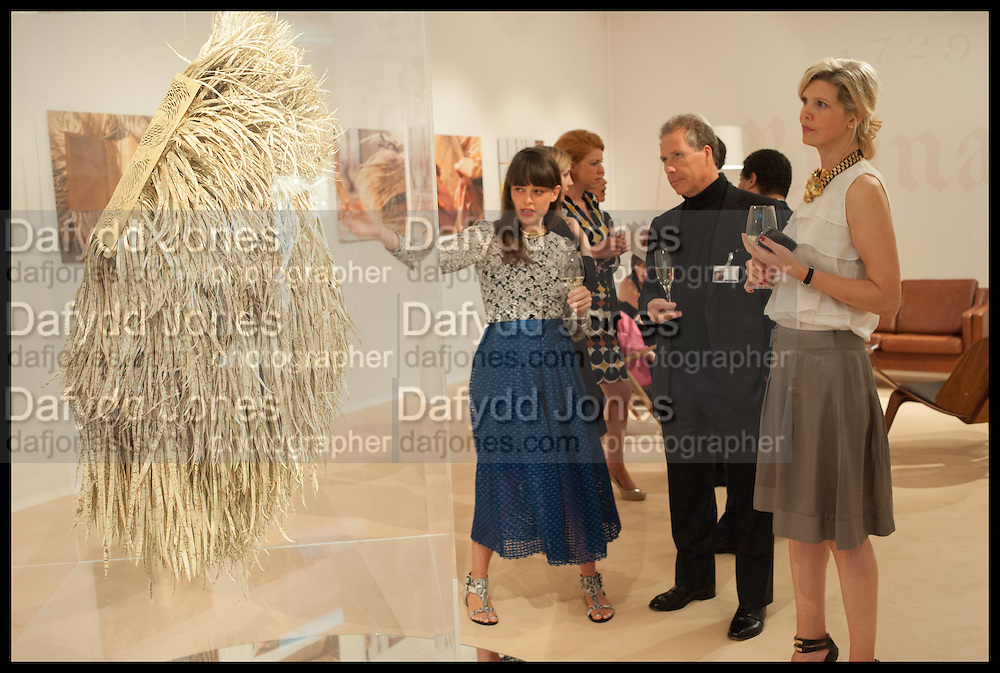 GEORGINA RUSSELL; VISCOUNT DAVID LINLEY; JULIE , Masterpiece London 2014 Preview. The Royal Hospital, Chelsea. London. 25 June 2014.