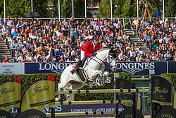 Balsinger Bryan, SUI, Clouzot de Lassus<br /> Longines FEI Jumping Nations Cup™ Final<br /> Barcelona 20128<br /> © Hippo Foto - Dirk Caremans<br /> 07/10/2018