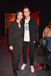 """Mary McCartney and her son Arthur Donald at """"Hoping For Palestine"""" Benefit Concert For Palestinian Refugee Children held at The Roundhouse, Chalk Farm Road, England. 04 June 2018."""