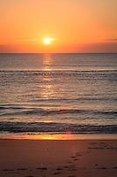 Brilliant sunrise, Assateague Island National Seashore, Maryland, USA