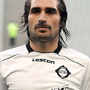 Altayspor's Sehmus OZER during their Play Off First leg match at Ataturk olympic Stadium in Istanbul Turkey on Monday, 17 May 2010. Photo by TURKPIX