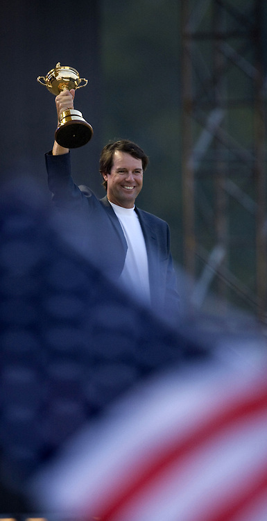 Paul AZINGER  (USA) celebrates victory during Singles 2008 Ryder Cup Matches, Valhalla, Louisville, Kentucky, USA.