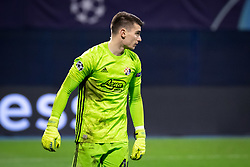 Dominik Livaković of Dinamo Zagreb during football match between GNK Dinamo Zagreb and Manchester City in 6th Round of UEFA Champions league 2019/20, on December 11, 2019 in Maksimir, Zagreb, Croatia. Photo by Blaž Weindorfer / Sportida