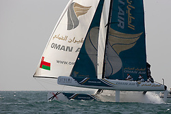 Second day of Racing, 21st of February. Extreme Sailing Series, Act 1, Muscat, Oman (20 - 24 February 2011) © Sander van der Borch / Artemis Racing