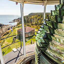 The fresnel lens of the West Quoddy Head Lighthouse in Lubec, Maine. Easternmost point in the United States.