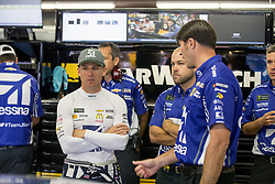 September 22, 2017 - Loudon, New Hampshire, United States of America - September 22, 2017 - Loudon, New Hampshire, USA: Jamie McMurray (1) hangs out in the garage during practice for the ISM Connect 300 at New Hampshire Motor Speedway in Loudon, New Hampshire. (Credit Image: © Justin R. Noe Asp Inc/ASP via ZUMA Wire)