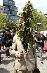 May 5, 2018 - New York City, New York, U.S. - Marijuana activist attends the 47th Annual NYC Cannabis Parade and Rally held at Union Square. (Credit Image: © Nancy Kaszerman via ZUMA Wire)