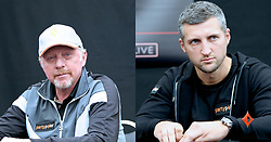 """Boris Becker releases a photo on Twitter with the following caption: """"""""ICYMI We caught up with #teampartypoker's @Carl_Froch and @TheBorisBecker and asked them to recall their most memorable knockouts. Can you guess which ones they chose? https://t.co/djNAEIu9je 18+. Play responsibly. begambleaware"""""""". Photo Credit: Twitter *** No USA Distribution *** For Editorial Use Only *** Not to be Published in Books or Photo Books ***  Please note: Fees charged by the agency are for the agency's services only, and do not, nor are they intended to, convey to the user any ownership of Copyright or License in the material. The agency does not claim any ownership including but not limited to Copyright or License in the attached material. By publishing this material you expressly agree to indemnify and to hold the agency and its directors, shareholders and employees harmless from any loss, claims, damages, demands, expenses (including legal fees), or any causes of action or allegation against the agency arising out of or connected in any way with publication of the material."""