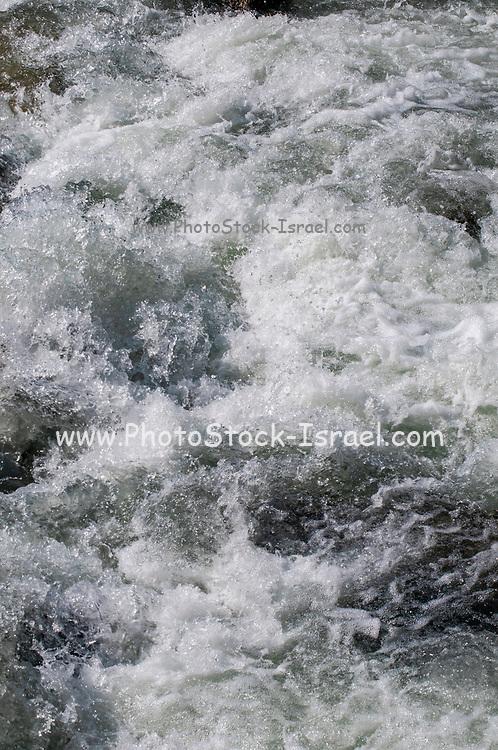 Rushing white water stream. Photographed in Stubai Valley, Tyrol, Austria