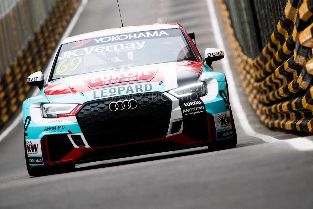 Jean-Karl VERNAY, FRA, Audi Sport Leopard Lukoil Team Audi RS 3 LMS<br /> <br /> 65th Macau Grand Prix. 14-18.11.2018.<br /> Suncity Group Macau Guia Race - WTCR - FIA World Touring Car Cup<br /> Macau Copyright Free Image for editorial use only