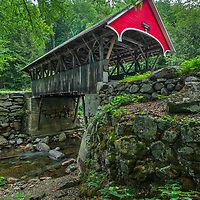 New England photography of the Flume Covered Bridge and Pemigewasset River at the Flume Gorge in Franconia Notch State Park of the New Hampshire White Mountains.<br /> <br /> Beautiful New England Covered Bridge photography photos of the New Hampshire Flume Covered Bridge are available as museum quality photography prints, canvas prints, acrylic prints, wood prints or metal prints. Fine art prints may be framed and matted to the individual liking and interior design decorating needs.<br /> <br /> Good light and happy photo making!<br /> <br /> My best,<br /> <br /> Juergen