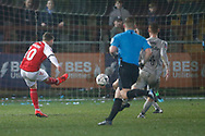 Goal scored by Conor McAleny of Fleetwood Town. 1-2, during the The FA Cup match between Fleetwood Town and Portsmouth at the Highbury Stadium, Fleetwood, England on 4 January 2020.