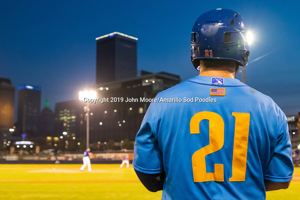 Amarillo Sod Poodles catcher Luis Torrens (21) against the Tulsa Drillers during the Texas League Championship on Saturday, Sept. 14, 2019, at OneOK Field in Tulsa, Oklahoma. [Photo by John Moore/Amarillo Sod Poodles]