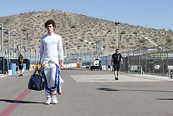 February 9, 2018 - Avondale, Arizona, United States of America - February 08, 2018 - Avondale, Arizona, USA: Matheus Leist (4) walks down pit road prior to taking to the track for the Prix View at ISM Raceway in Avondale, Arizona. (Credit Image: © Justin R. Noe Asp Inc/ASP via ZUMA Wire)
