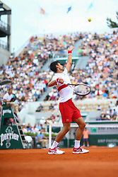 May 30, 2018 - Paris, U.S. - PARIS, FRANCE - MAY 30: NOVAK DJOKOVIC (SRB) during day four match of the 2018 French Open 2018 on May 30, 2018, at Stade Roland-Garros in Paris, France. (Photo by Chaz Niell/Icon Sportswire) (Credit Image: © Chaz Niell/Icon SMI via ZUMA Press)