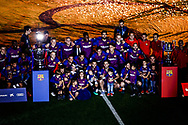FC Barcelona team celebrating the trophy of La Liga and the King's Cup during the Andres Iniesta farewell at the end of the La Liga football match between FC Barcelona and Real Sociedad on May 20, 2018 at Camp Nou stadium in Barcelona, Spain - Photo Xavier Bonilla / Spain ProSportsImages / DPPI / ProSportsImages / DPPI