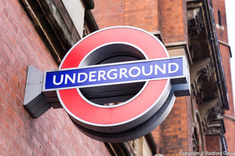 London underground sign, UK