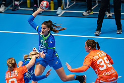 Ana Abina of Slovenia in action during the Women's friendly match between Netherlands and Slovenia at De Maaspoort on march 19, 2021 in Den Bosch, Netherlands (Photo by RHF Agency/Ronald Hoogendoorn)