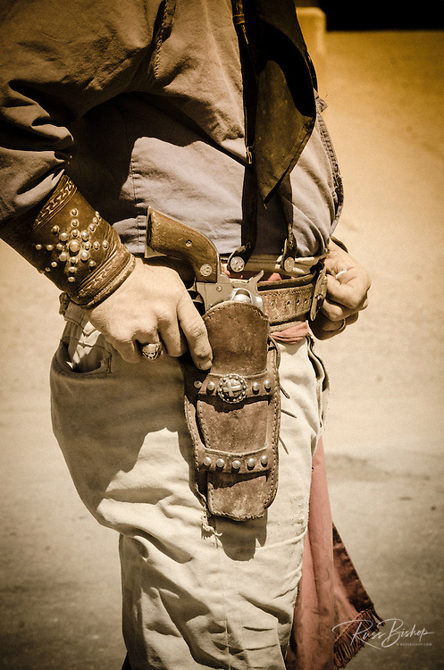 Cowboy and gun belt, Tombstone, Arizona USA