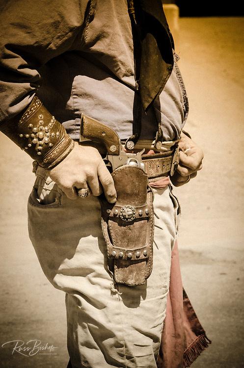 Cowboy and gun belt, Tombstone, Arizona USA