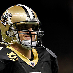 January 7, 2012; New Orleans, LA, USA; New Orleans Saints quarterback Drew Brees (9) celebrates after a touchdown pass against the Detroit Lions during the 2011 NFC wild card playoff game at the Mercedes-Benz Superdome. Mandatory Credit: Derick E. Hingle-US PRESSWIRE