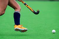 AMSTELVEEN- HOCKEY -  Sabine van Silfhout van Hurley    tijdens  de hoofdklasse competitiewedstrijd tussen de dames van Hurley en Bloemendaal (3-0) .   COPYRIGHT KOEN SUYK