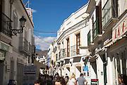 Historic buildings popular holiday resort town of Nerja, Malaga province, Spain