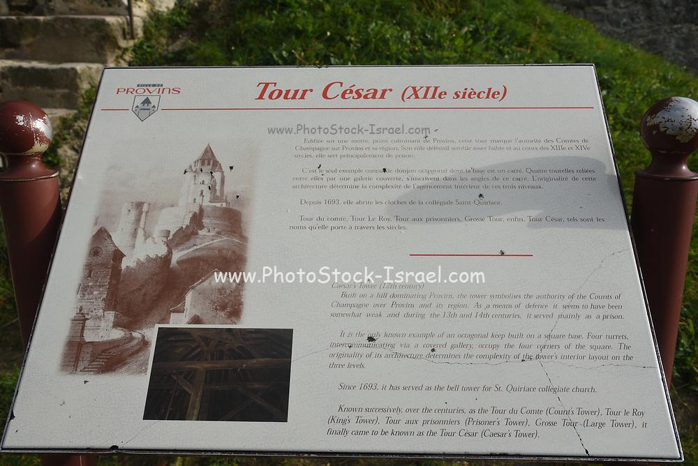 Tour Cesar (Caesar's Tower) a 12 century keep in Provins, Ile-de-France, France