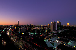 Stock photo of the Galleria area at twilight.