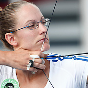 Berengere SCHUH (FRA) competes in Archery World Cup Final in Istanbul, Turkey, Saturday, September 25, 2011. Photo by TURKPIX