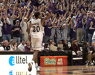 Kansas State fans react after Wildcat Cartier Martin hits a three pointer during the first half of  K-State's 58-54 win over Texas A&M at Bramlage Coliseum in Manhattan, Kansas, January 18, 2006.
