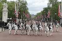 LONDON - JUNE 05: Metropolitan Police mounted officers, The Queen's Diamond Jubilee, The Mall, London, UK. June 05, 2012. (Photo by Richard Goldschmidt)