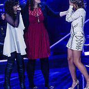 NLD/Hilversum/20121109 - The Voice of Holland 1e liveuitzending, Katty Heath, Sifra Geesink en Marjet van den Brand
