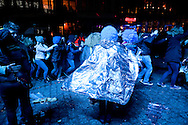 Mons, Belgium. Weekend of inauguration of Mons as European Capital of Culture 2015 (24 January 2015). Pictured here, disco on the Grand Place (main square). © Rudolf Abraham