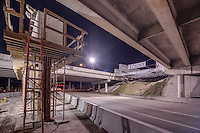 Construction image of the University Parkway Bridge in Sarasota Florida at Night by Jeffrey Sauers of Commercial Photographics, Architectural Photo Artistry in Washington DC, Virginia to Florida and PA to New England