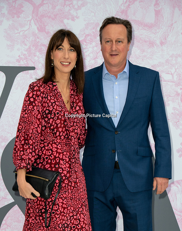 David Cameron and Samantha Cameron arrives at V&A - summer party, on 19 June 2019, London, UK