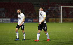 Ethan Hamilton of Peterborough United leaves the pitch dejected at full-time - Mandatory by-line: Joe Dent/JMP - 14/11/2020 - FOOTBALL - Alexandra Stadium - Crewe, England - Crewe Alexandra v Peterborough United - Sky Bet League One