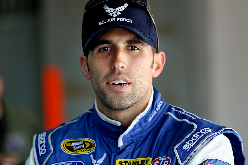 May 24, 2012; Concord, NC USA; NASCAR Sprint Cup Series driver Aric Almirola (43) during  for the Coca-Cola 600 at Charlotte Motor Speedway. Photo by Kevin Liles/kevindliles.com