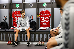 Jamie Paterson of Bristol City looks on in the home dressing room - Rogan/JMP - 27/09/2020 - Ashton Gate Stadium - Bristol, England - Bristol City v Sheffield Wednesday - Sky Bet Championship.