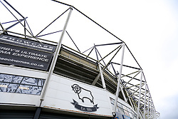 A general view outside Pride Park Stadium, home to Derby County - Mandatory by-line: Ryan Crockett/JMP - 16/01/2021 - FOOTBALL - Pride Park Stadium - Derby, England - Derby County v Rotherham United - Sky Bet Championship