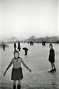 people ice skating 1950s Netherlands