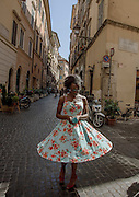 Rome, the writer Taiye Selasi, via del governo vecchio, vintage clothes shop