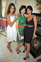 Left to right, ASTRID MUNOZ, JASMINE GUINNESS and ASSIA WEBSTER at the 10th anniversary party of the store Caramel, Ledbury Road, London W11.  The party was held in association with the Naked Heart Foundation - a charity set up by model Natalia Vodianova.
